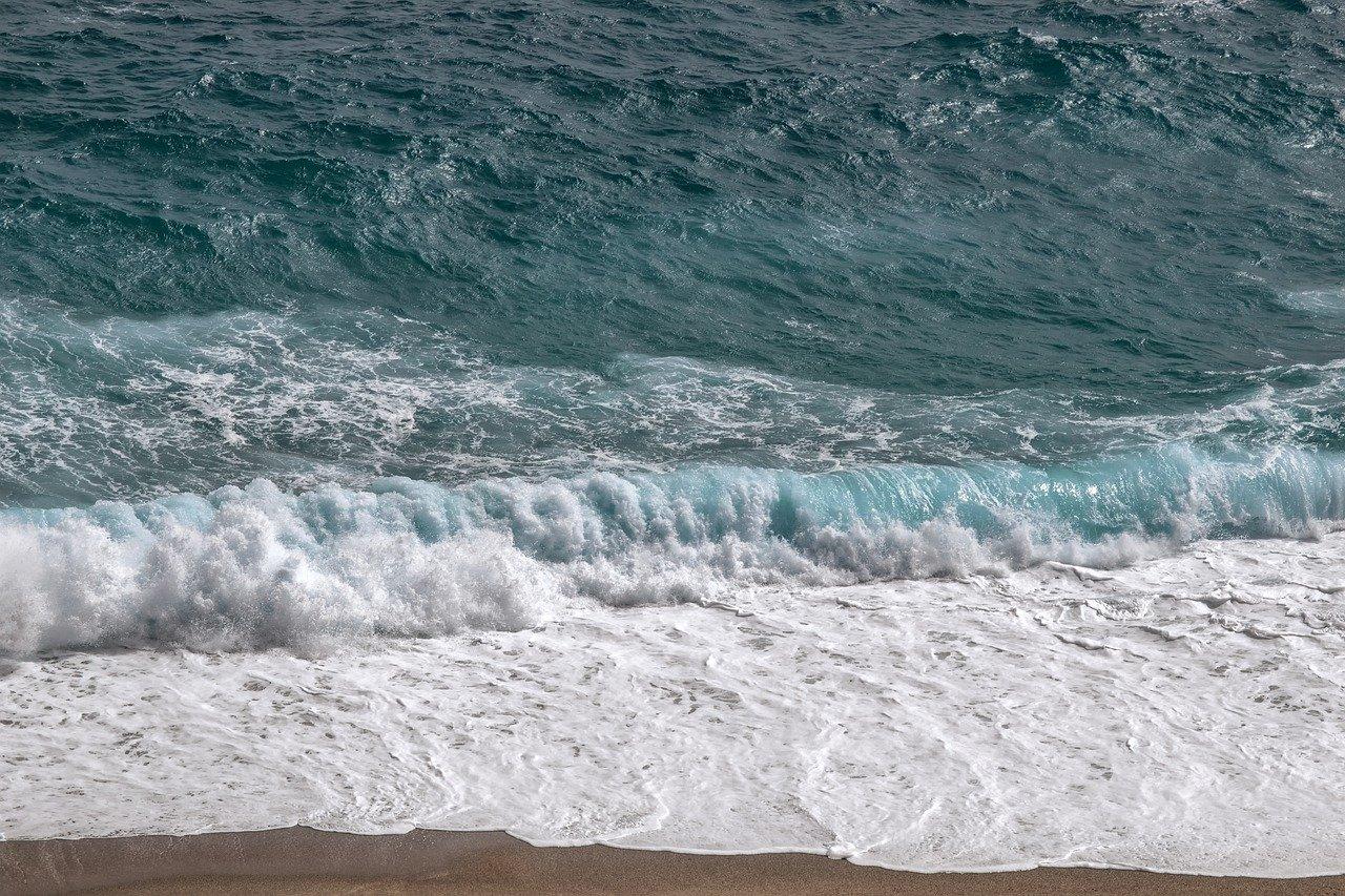 waves, beach, coast